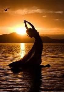 woman in sunrise